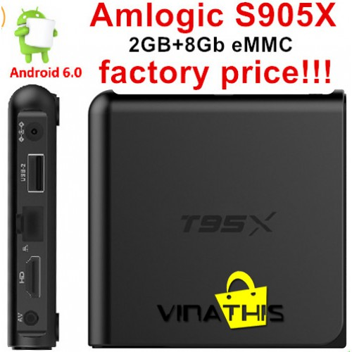 TIVI BOX ANDROID-T95X-- RAM 2G - ANDROID 6.0
