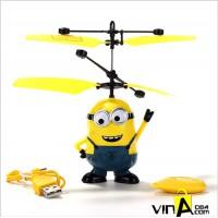 Máy bay cảm ứng Minion có điều khiển dễ thương cho bé