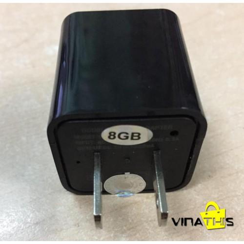 Camera ngụy trang hình cục sạc ( cốc sạc điện thoại ) - 8Gb