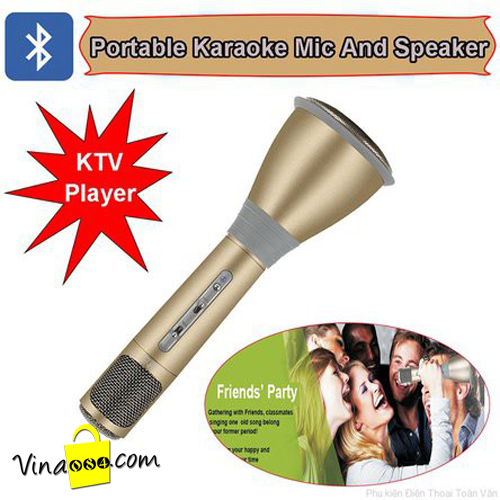 Micro karaoke Bluetooth cho iphone, ipad, máy tính. model K068i