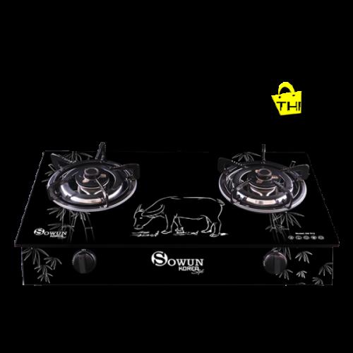 BẾP GAS DƯƠNG SOWUN 912 - kính cường lực chống trầy