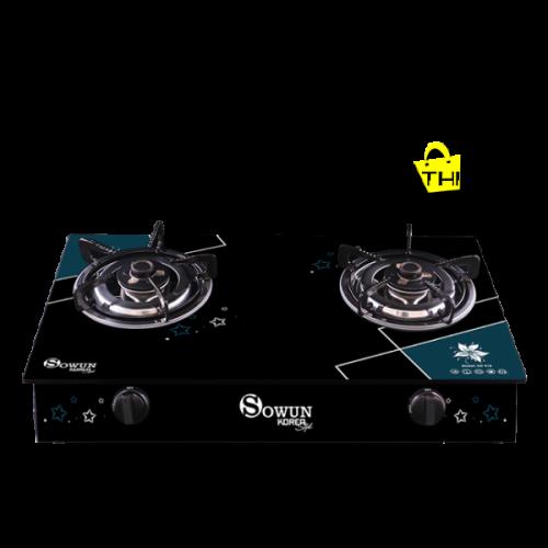 BẾP GAS DƯƠNG SOWUN 918 Kính cường lực chống trày.