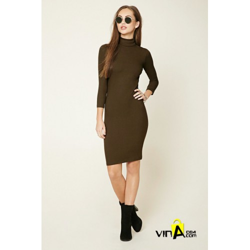 Đầm Turtleneck Midi