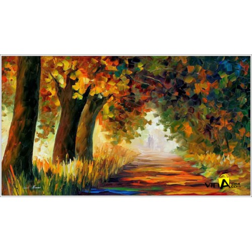 Tranh sơn dầu - rừng cây