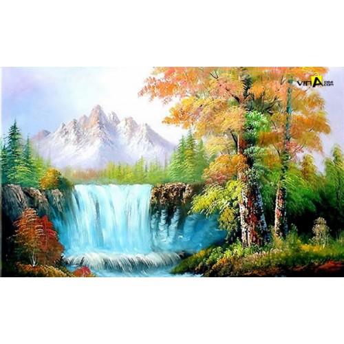 Tranh sơn dầu Sơn thủy - tranh phong thủy